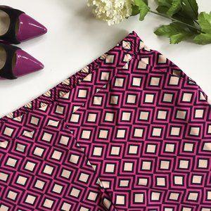 NY & Co Geometric Cropped Pant